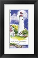 Framed Sandy Hook Lighthouse