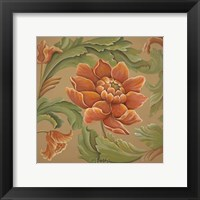 Framed Baroque Flower I