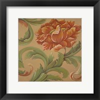 Framed Baroque Flower II