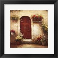 Rustic Doorway III Framed Print
