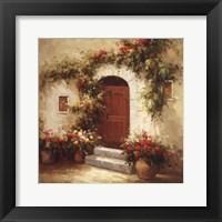 Rustic Doorway IV Framed Print