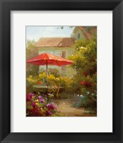 Framed Red Umbrella