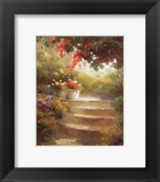 Garden Steps Framed Print