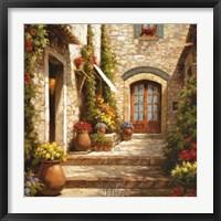 Framed Sunlit Courtyard