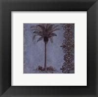 Palm on Blue II Framed Print