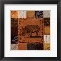 Framed African Collage I