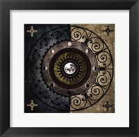 Framed Moon Wheel I