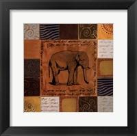 Framed African Collage I
