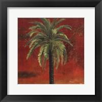 Framed La Palma on Red III