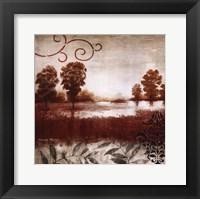 Red Land I Framed Print