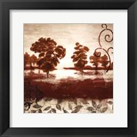 Red Land II Framed Print