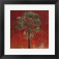 La Palma on Red IV Framed Print