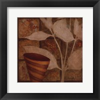 Little Striped Vase II Framed Print