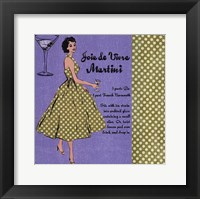 Framed Martini Lady