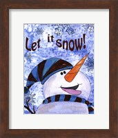 Framed Let it Snow Snowman