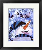 Let it Snow Snowman Framed Print