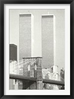Framed World Trade Center Photo