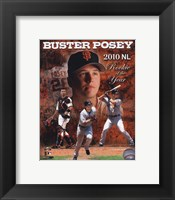 Framed Buster Posey 2010 National League Rookie of the Year Composite