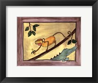 Framed Brown Monkey