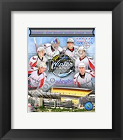 Framed Washington Capitals 2010 Winter Classic Portrait Plus