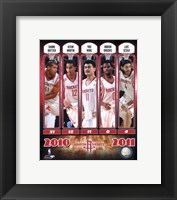 Framed 2010-11 Houston Rockets Team Composite