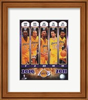 Framed 2010-11 Los Angeles Lakers Team Composite