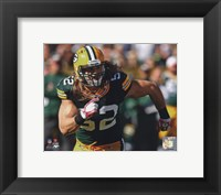 Framed Clay Matthews 2010 Action