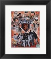 Framed San Francisco Giants 2010 World Series Champions PF Gold
