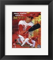 Framed Joey Votto 2010 National League MVP Portrait Plus