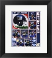 Framed 2010 New York Giants Team Composite
