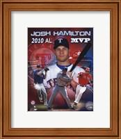 Framed Josh Hamilton 2010 Americal League MVP Portrait Plus