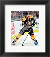 Framed Patrice Bergeron 2010-11 Action