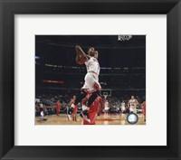 Framed Derrick Rose 2010-11 dunking