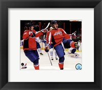 Framed Alex Ovechkin & Nicklas Backstrom 2010-11 Action
