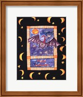 Framed Halloween Bat