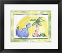 Lil Blue Dino Framed Print
