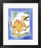 Rapping Raptor Framed Print