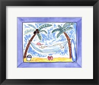 Lazy Day at the Beach Framed Print