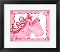 Royal Unicorn - Rose Framed Print