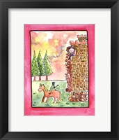 Brown Hair Rapunzel Framed Print