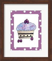 Framed Blueberry Cupcake