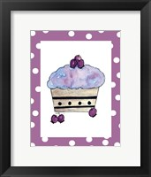Framed Blueberry Cupcake