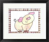 Here's Looking at You - Pig Framed Print