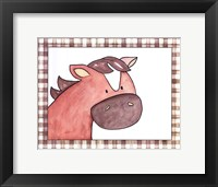 Here's Looking at You - Horse Framed Print