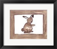 Vintage Rabbit Framed Print