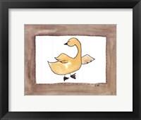 Vintage Duck Framed Print
