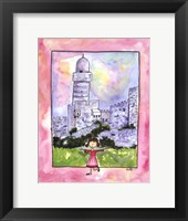 Girl in Israel Framed Print