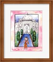 Framed Girl in India