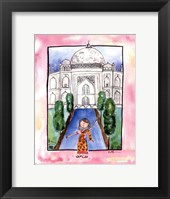 Framed Girl in India