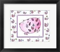 Framed Paisley Pig